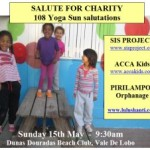 Portugal: 108 Yoga Sun Salutations – Charity Event by Lulushanti Yoga Helping Pirilampos Orphanage, ACCA kids & Sis Project