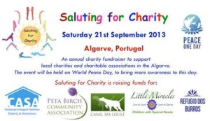 Portugal: Saluting for Charity & World Peace Day in the Algarve