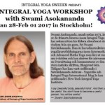 Sweden: INTEGRAL YOGA WORKSHOP with Swami Asokananda in Stockholm