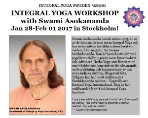 Sweden: INTEGRAL YOGA WORKSHOP with Swami Asokananda in Stockholm