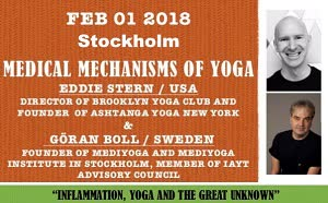 Sweden: Medical Mechanisms of Yoga – Evening Talk with Eddie Stern (USA) and Göran Boll (Stokholm)