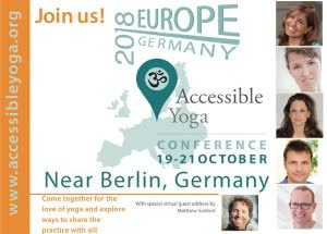 Germany: 1ST ACCESSIBLE YOGA CONFERENCE EUROPE 2018 – Berlin