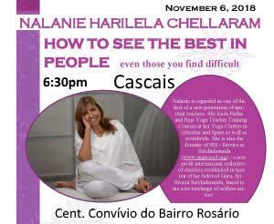 Portugal: Nalanie Harilela Chellaram Gives a Talk in Cascais (Lisbon) – How To See The Best In People