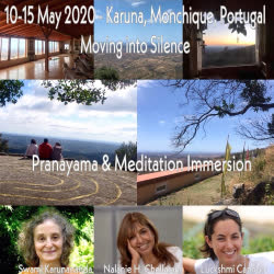 Portugal: Moving into Silence Retreat in Algarve – with Swami Karunananda, Nalanie Harilela Chellaram and Luckshmi Lucy Cannon