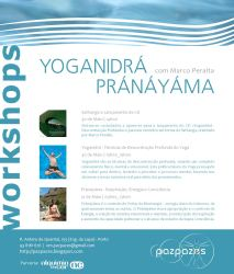 Cartaz: Yoganidrá e Pránáyáma por Marco Peralta