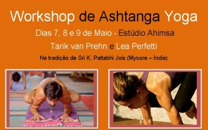 Portugal: Workshop de Ashtanga Yoga com Tarik van Prehn (Brasil) e Lea Perfetti (USA)