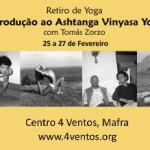 Portugal: Retiro de Introdução ao Ashtanga Vinyasa Yoga com Tomás Zorzo no Centro 4Ventos em Mafra