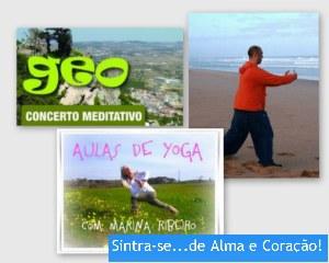 Portugal: Concerto Meditativo Geo, Workshops Vários e Aulas de Yoga e ChiKung no Sintra-se