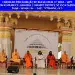 Índia: Proclamação do Dia Mundial do Yoga – WYD pelas Grandes Linhagens e Grandes Mestres do Yoga da Índia