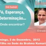 """Portugal: Conferência """"Fé, Esperança, Determinação…"""" por Didi Sudesh na Brahma Kumaris"""