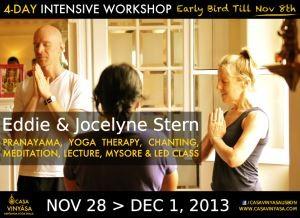 Portugal: Eddie Stern e Jocelyne Stern de Novo em Lisboa, na Casa Vinyasa – Ashtanga Yoga Shala