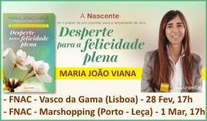 """Portugal: Lançamento do Livro """"Desperte Para a Felicidade Plena"""" de Maria João Viana"""