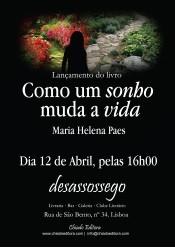 """Portugal: Lançamento do Livro """"Como um sonho muda a vida"""" de Maria Helena Paes"""