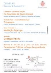 Portugal: Conferência Os Benefícios da Saúde Integral – Brahma Kumaris – Odivelas