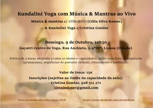 Portugal: Kundalini Yoga com Música e Mantras ao vivo – por Cristina Gondar e Célia Silva Ramos