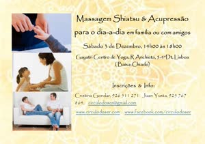 Portugal: Massagem Shiatsu & Acupressão para o Dia-a-Dia (em família ou com amigos)