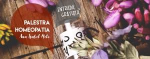 Portugal: Palestra sobre HOMEOPATIA com ANA ISABEL NETO