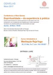 Portugal: Espiritualidade – Da Experiência à Prática – com Mara Gomes – na Brahma Kumaris
