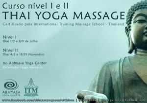Portugal: Curso de THAI YOGA MASSAGE Nuad Bo-Rarn – Nível I e II certificado pela International Massage School – Thailand