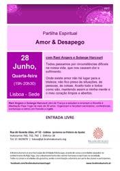 Portugal: Partilha Espiritual – Amor e Desapego – na Brahma Kumaris