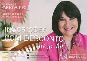 Portugal: Parto Ativo com Janet Balaskas