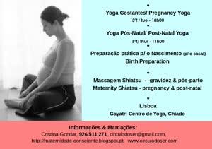 Portugal: Yoga para Gestantes & Yoga Pós-parto – com Cristina Gondar