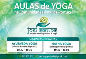 Portugal: Aulas Regulares de Hatha e Ayurveda Yoga – Lisboa – com Joel Santos