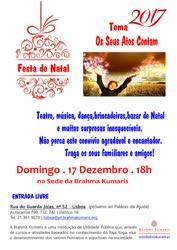 Portugal: Festa de Natal 2017 – Os seus Atos Contam – Brahma Kumaris