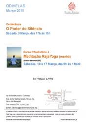 Portugal: Conferência O Poder do Silêncio Sábado – Brahma Kumaris
