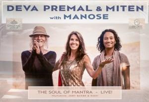Portugal: COLISEU dos RECREIOS – DEVA PREMAL & MITEN com MANOSE – SOUL of MANTRA – LIVE!