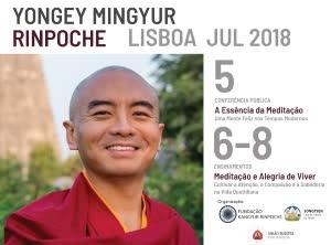 Portugal: Yongey Mingyur Rinpoche – Lisboa – Julho 2018 – Conferência e Palestras