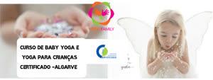 Portugal: Curso de Baby Yoga e Yoga para Crianças Certificado – Algarve – DGERT e Yoga Alliance
