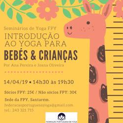 Portugal: Introdução ao Yoga para Bebés e Crianças – c/  Ana Pereira e Joana Oliveira – FPY – Santarém