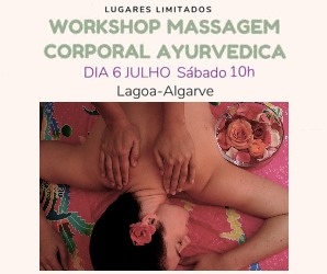 Portugal: WORKSHOP Massagem Corporal Ayurvedica – Lagoa – Algarve