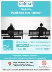 Portugal: Workshop – Escolha a Calma – Paciência tem Limites? – na Brahma Kumaris
