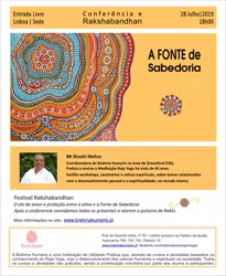 Portugal: CONFERÊNCIA E RAKSHA BANDHAN – c/ Shashi Mehra – na Brahma Kumaris