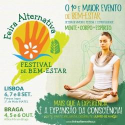 Portugal: FEIRA ALTERNATIVA – FESTIVAL DE BEM-ESTAR – LISBOA e BRAGA 2019