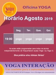 Portugal: Aulas de Yoga mês de Agosto 2019 – 2ª a 5ª Feira – Braga
