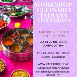 Portugal: WORKSHOP DE CULINÁRIA INDIANA VEGETARIANA + AULA DE YOGA – c/ Carla Shakti e Bina Achoca