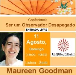 Portugal: Conferência Ser um Observador Desapegado – c/ Maureen Goodman – na Brahma Kumaris