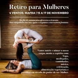 Portugal: Retiro de Yoga para Mulheres – c/ Rita Cachaço – Mafra