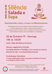 Portugal: Retiro de 1 Dia Silêncio, Salada e Sopa – Brahma Kumaris