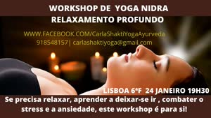 Portugal: Workshop de Relaxamento Profundo com YOGA NIDRÁ – c/ Carla Shakti