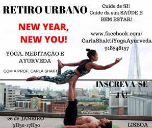 "Portugal: RETIRO Urbano "" NEW YEAR, NEW YOU!""- Yoga, Meditação e Ayurveda"