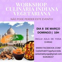 Portugal: WORKSHOP DE CULINÁRIA INDIANA VEGETARIANA + AULA DE YOGA