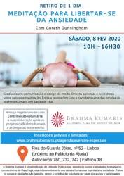 Portugal: MEDITAÇÃO PARA LIBERTAR-SE DA ANSIEDADE- com BK Goreth Dunningham – na Brahma Kumaris
