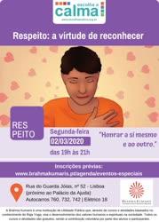 Portugal: Respeito: a virtude de reconhecer, no âmbito do programa Escolha a Calma – na Brahma Kumaris
