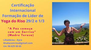 Portugal: Formação Internacional Certificada de LÍDER DE YOGA DO RISO – c/ Kyra
