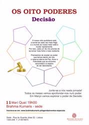 Portugal: OS OITO PODERES –  Decisão – na Brahma Kumaris