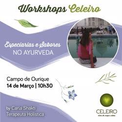 Portugal: Workshop Gratuito* Especiarias e Sabores no Ayurveda – c/ Carla Shakti